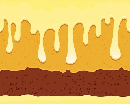 to cake layer: seamless con gustosa torta a strati e smalto bianco