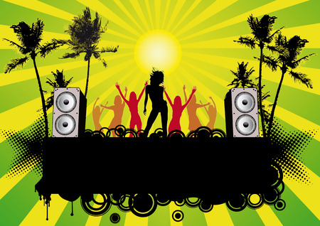 Beachparty - flier for your party Stock Vector - 4897883