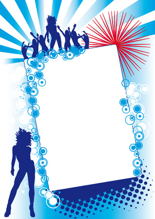 Blue Red Fest Stock Vector - 4904656