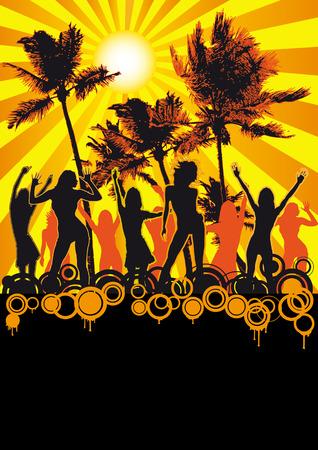Orange Retro Beach Party