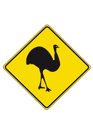 emu: Emu road sign from australia