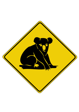 オーストラリアからコアラの道路標識  イラスト・ベクター素材