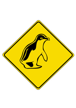 pinguin: Yellow Road Sign from Australia