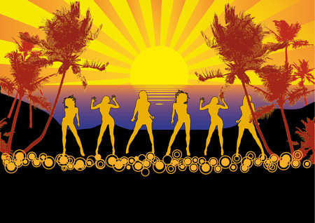 beach party people: After the Sunset Illustration