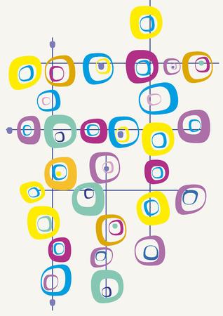 Juste Retro carrés Vecteurs