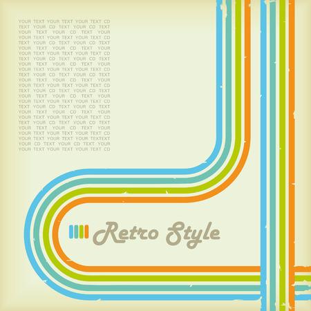 Retro Style Cover Vector