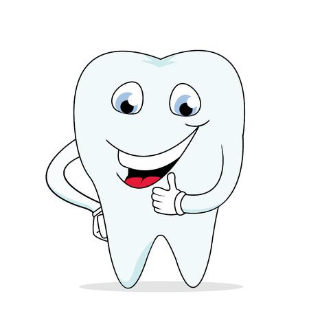 sonrisas dientes: Funny dientes Vectores