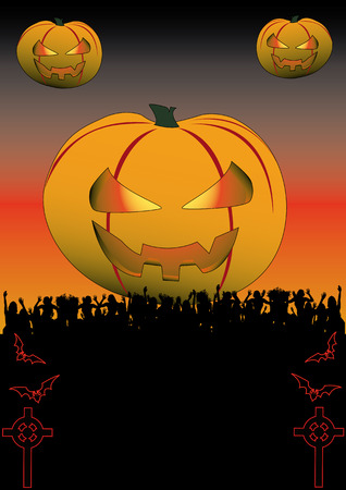 Flyer for your halloween party or fest Vector