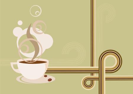 cofee cup: Retro Coffee Illustration