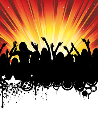Flyer or poster for your party or fest. Stock Vector - 5582484