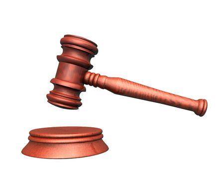 3d illustration looks mallet of judge. Stock Illustration - 5776447