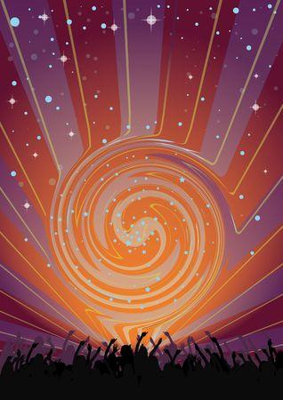 party flyer: Dancing Supernova