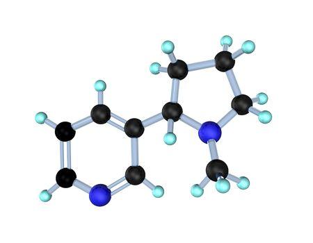 3d illustration looks molecule of nicotine on the white background. Stock Illustration - 7219439