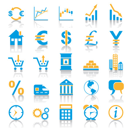 Exchange Marketplace Icons Vector
