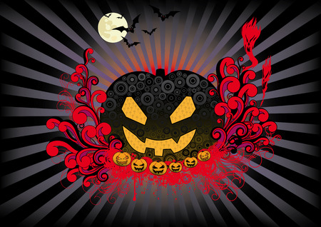 Halloween retro design for your party flyer. Vector
