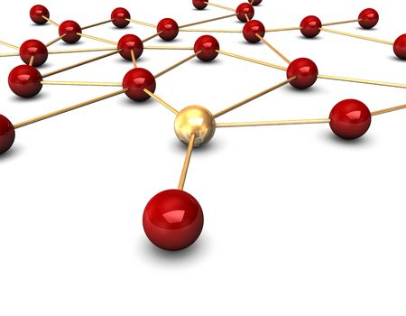 Abstractly rendering of the social network on the white background.