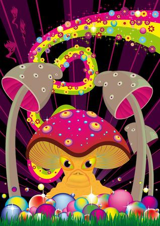 champignon magique: Prospectus pour votre parti de gestion. Illustration