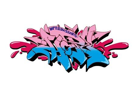 graffitti: Graffiti vector sketch design, word HOPE.