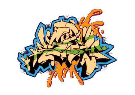 graffiti: Vector esbozo dise�o de Graffiti, palabra tormenta. Este es mi ilustraci�n.