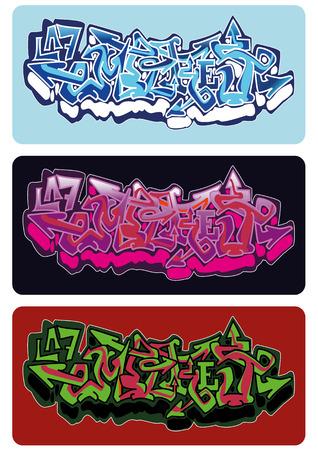 aerografo: Graffiti dise�o de dibujo vectorial, palabra Imperio. Vectores