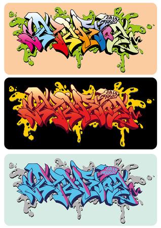 aerografo: Graffiti dise�o de dibujo vectorial, palabra Selektor.