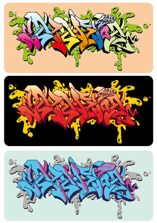 hiphop: Graffiti vector sketch design, word Selektor.