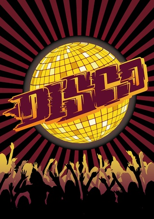 Design for your party or disco flyer and poster. Vector