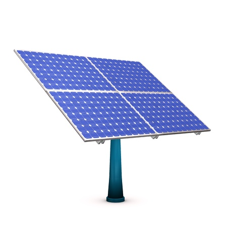 photovoltaic: Photovoltaic solar panel, isolated on white background. Stock Photo