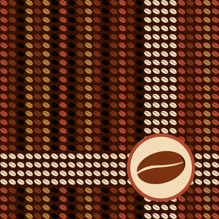 Matrix coffee design with beans. file. Vector