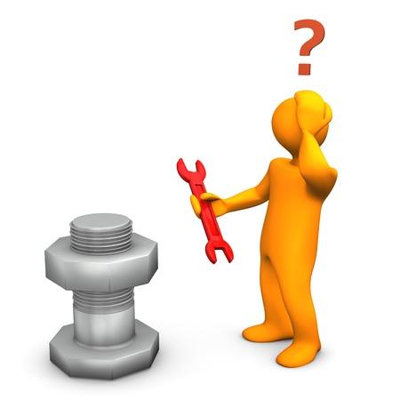 Orange Cartoon-Figur mit fett-, Nuss-und falsche Schlüssel Standard-Bild