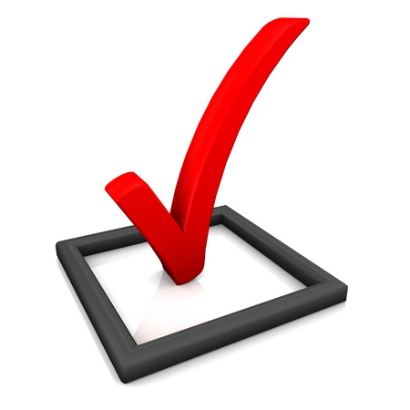 check list: Red check list symbol on the white background.