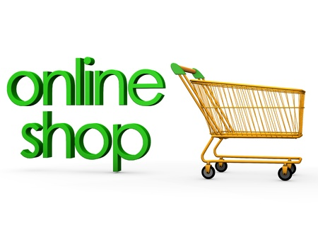 retailers: Orange carry with the green text online shop.