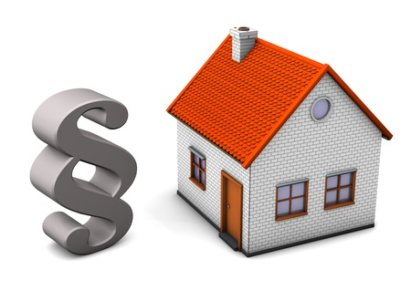 A house with paragraph on the white background Stock Photo - 15643910