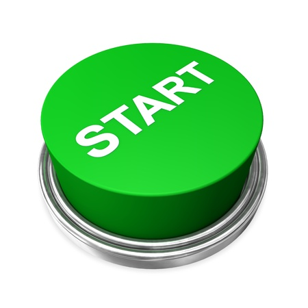 starting: Green start button on the white background