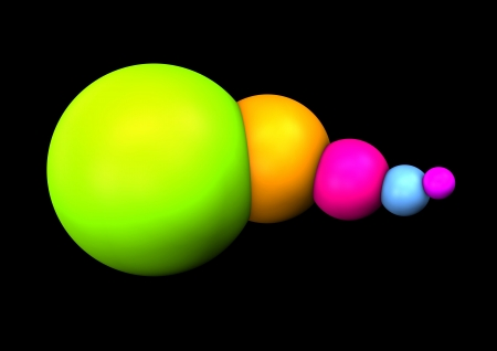 Abstract colorful spheres on the black background  Stock Photo - 17259413