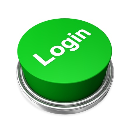 Green login button on the white background  photo