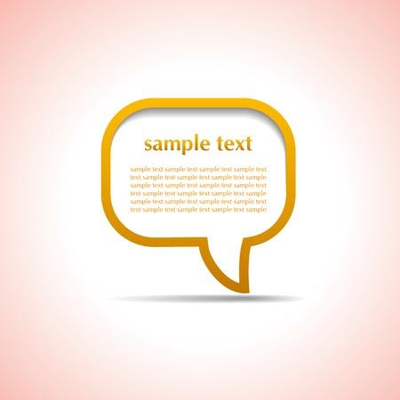 buble: Orange speech bubble with shapes  Illustration
