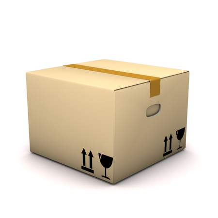 forwarder: A packing case on the white background