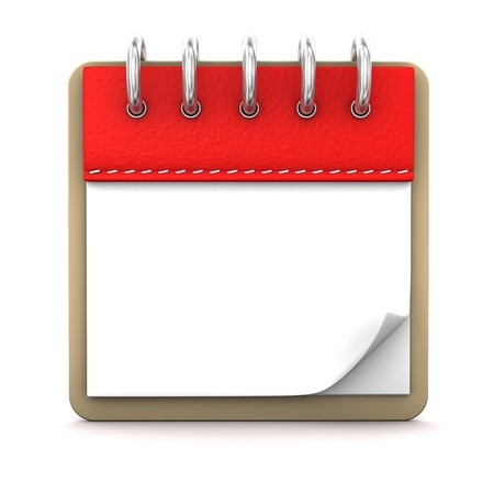 event planning: 3d illustration with calendar on the white background.