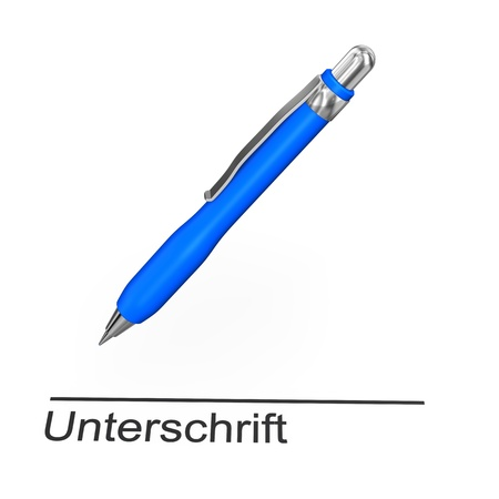 disclosure: Blue pen with german text  Stock Photo