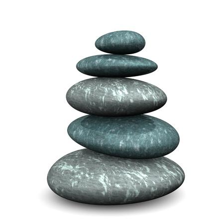 budha: Feng shui stones on the white background