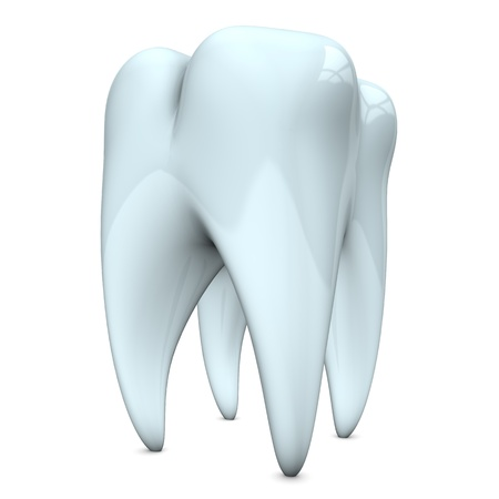 White and clean tooth on the white background. Stock Photo - 18842634