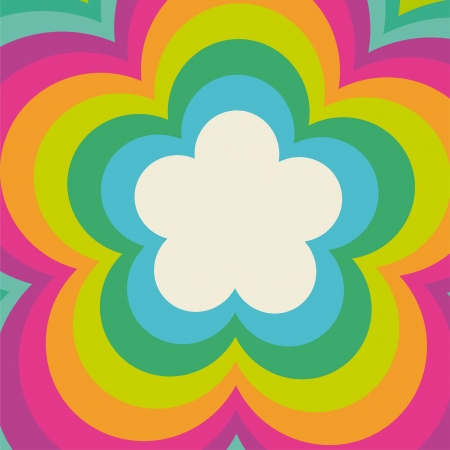 Rainbow flower power cover design photo