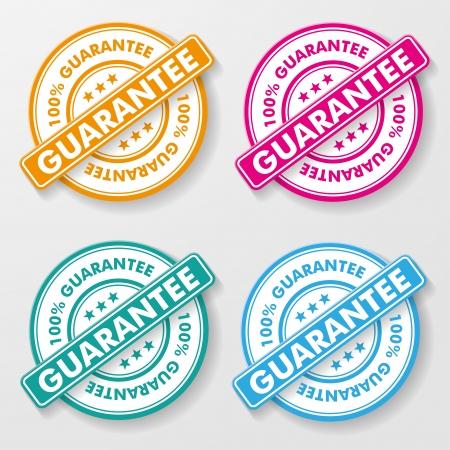 Risk Free: 100 percent guarantee colorful paper labels