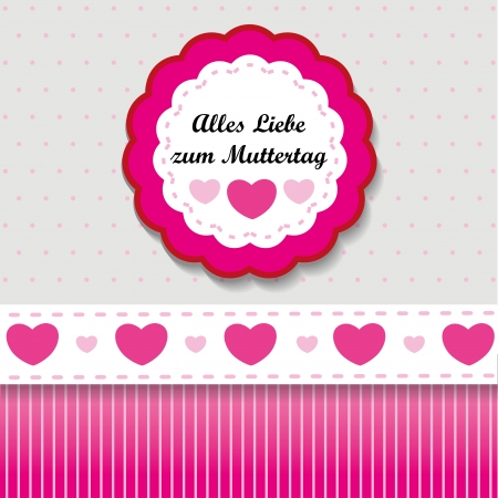 Paper design for mothers day, with hearts Vector