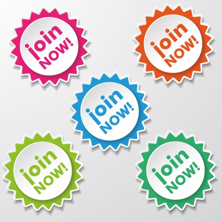 apply: Colorfull star paper stickers with text Join Now