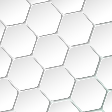 White paper hexagon labels   Vector