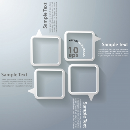 Four speech bubbles on the grey background Vector
