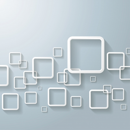 creative arts: White abstract window rectangles  Eps 10 vector file  Illustration