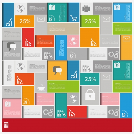 yield: Infographic background with colorful squares. vector file.